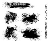 vector set of grunge brush... | Shutterstock .eps vector #642697684