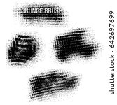 vector set of grunge brush... | Shutterstock .eps vector #642697699