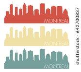 montreal skyline silhouette... | Shutterstock .eps vector #642700837