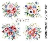 flower bouquets | Shutterstock . vector #642704509