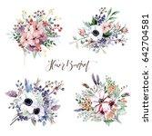 flower bouquets | Shutterstock . vector #642704581