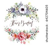 flower bouquets | Shutterstock . vector #642704605