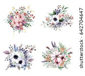 flower bouquets | Shutterstock . vector #642704647