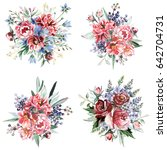 flower bouquets | Shutterstock . vector #642704731
