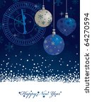 blue snowflake new years...   Shutterstock .eps vector #64270594