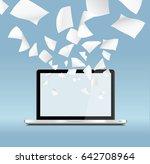 vector computer screen witth... | Shutterstock .eps vector #642708964