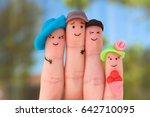 fingers art of family. concept... | Shutterstock . vector #642710095