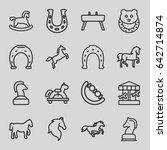 Horse Icons Set. Set Of 16...