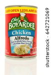 Small photo of Winneconne, WI - 13 May 2017: A can of Chef Boyardee chicken alfredo on an isolated background.