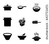 soup icons set. set of 9 soup... | Shutterstock .eps vector #642721651