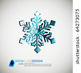 snow flake design   detailed... | Shutterstock .eps vector #64273075
