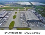 heathrow  england  12 may 2017  ... | Shutterstock . vector #642733489