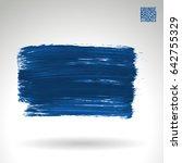 brush stroke and texture.... | Shutterstock .eps vector #642755329