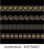 greek ornament. patterns in... | Shutterstock . vector #642756817