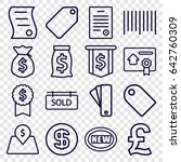 price icons set. set of 16... | Shutterstock .eps vector #642760309