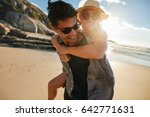 portrait of young man carrying... | Shutterstock . vector #642771631