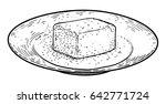 butter on plate illustration ... | Shutterstock .eps vector #642771724