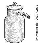 milk can illustration  drawing  ... | Shutterstock .eps vector #642772831