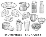 dairy product illustration ... | Shutterstock .eps vector #642772855