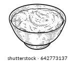 yogurt illustration  drawing ... | Shutterstock .eps vector #642773137