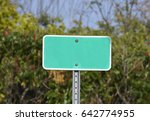 Blank Street Sign In Front Of...