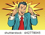 businessman two like gesture ... | Shutterstock .eps vector #642778045