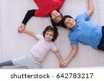 happy young boys having fun on... | Shutterstock . vector #642783217