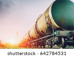 tanks with gas or oil... | Shutterstock . vector #642784531