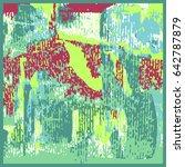 grunge oil painting. oil... | Shutterstock .eps vector #642787879