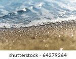 Sand Beach And Sea Foam Macro...