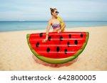 summer lifestyle portrait of... | Shutterstock . vector #642800005