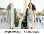 career woman on her way to... | Shutterstock . vector #642809029