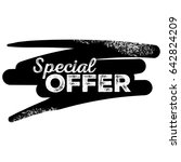 special offer black label with... | Shutterstock .eps vector #642824209