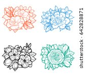 flower set | Shutterstock . vector #642828871