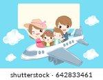 cute cartoon family smile... | Shutterstock .eps vector #642833461