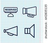 set of 4 announcement outline...   Shutterstock .eps vector #642835135