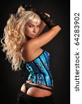 beautiful girl in lingerie | Shutterstock . vector #64283902