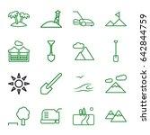 landscape icons set. set of 16... | Shutterstock .eps vector #642844759