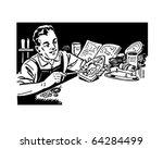 man repairing appliances  ... | Shutterstock .eps vector #64284499