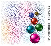 christmas background colored...   Shutterstock . vector #64284781
