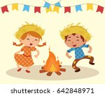 couple dancing at the party... | Shutterstock .eps vector #642848971