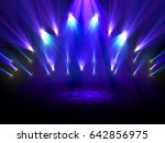 colorful spotlights shining on... | Shutterstock . vector #642856975