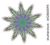 fractal art background for... | Shutterstock . vector #642860095