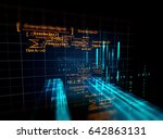 block chain network and... | Shutterstock . vector #642863131