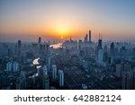 shanghai sunset | Shutterstock . vector #642882124