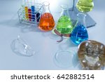 scientist researching chemistry ... | Shutterstock . vector #642882514
