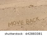 "handwriting  words ""move back""... 