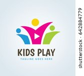 kids play logo  family and... | Shutterstock .eps vector #642884779
