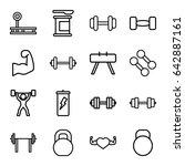 bodybuilding icons set. set of... | Shutterstock .eps vector #642887161