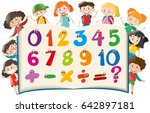 counting numbers with happy... | Shutterstock .eps vector #642897181